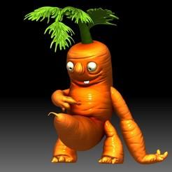 Carrot Monster 3d printable model STL file.jpg Download STL file Carrot Funny Monster 3D printable idea for 3d printing • 3D printable model, voronzov