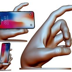 Descargar archivo 3D Soporte para teléfono con soporte para modelo 3dprintable para cualquier marca de smartphones, voronzov
