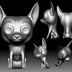 Chihuahua_Funko Pop STL file 3D printable model.jpg Download STL file Chihuahua Funko Pop 3D printable • 3D printable object, voronzov