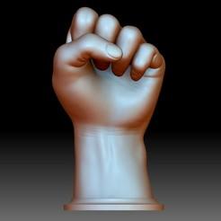 BLM Hand sign logo fist stl 3d model printable.jpg Télécharger fichier STL Logo de la main de la BLM poing fichier STL modèle 3D imprimable Black Lives • Objet pour impression 3D, voronzov