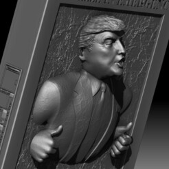 Trump Carbonite Freezing 3D printable model STL file Star Wars.jpg Download STL file Trump 3D portrait carbonite frozen Star Wars inspired printable • 3D printable template, voronzov
