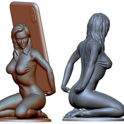 Download 3D printing designs Phone holder stand mount printable for IPhone X, XS., voronzov