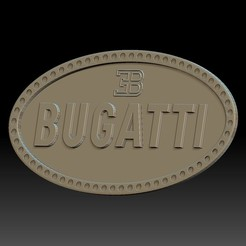 Download 3D printer designs Bugatti logo, voronzov