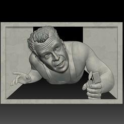 Download 3D printer templates Portrait STL bas-relief Die Hard, voronzov