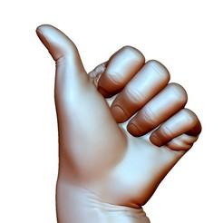 ThumbUpBended7.jpg Télécharger fichier OBJ Signe du pouce en haut geste de la main homme plié • Plan imprimable en 3D, voronzov