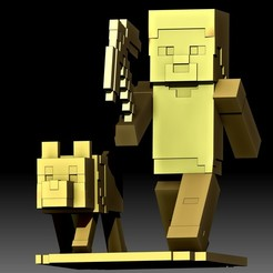 MineCraft 3D printable model STL file for 3d printer.jpg Download STL file MineCraft 3d model STL file printable • Design to 3D print, voronzov