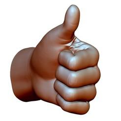 ThumbUpStraight3.jpg Télécharger fichier OBJ Pouce vers le haut signe de la main geste masculin • Design pour impression 3D, voronzov