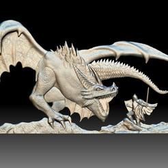 Dragon Knight 3d model bas-relief for CNC router 3D printable.jpg Télécharger fichier STL Impression du bas-relief du modèle 3d de Dragon Knight pour routeur CNC • Modèle pour imprimante 3D, voronzov