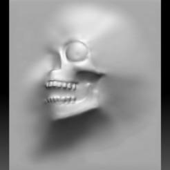 Download 3D printer designs Skull monster bas-relief STL file for CNC, voronzov