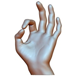 Descargar archivos 3D Ok ok signo de mano masculina, voronzov