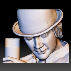 orange1.jpg Download STL file Portrait STL bas-relief Clockwork orange • Design to 3D print, voronzov