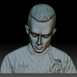 Download 3D printer model Terminator T1000 STL file portrait bas-relief for CNC router, voronzov