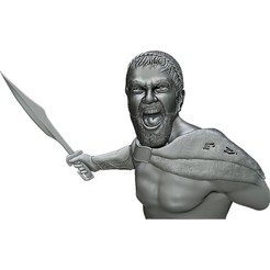 Download free 3D printing templates Spartan Tzar Leonid 3d model bas relief  for CNC router or 3D printer, voronzov