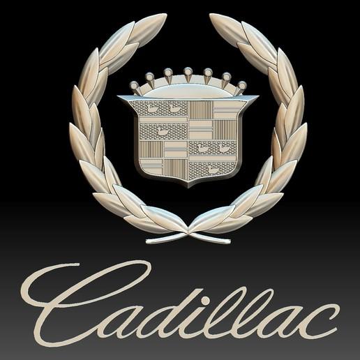 Cadillac logo auto car logotype