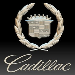 Download 3D printing models Cadillac logo auto car logotype, voronzov