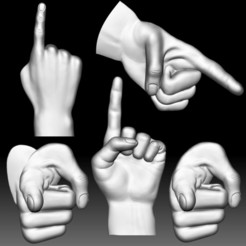 Hand Point Gesture STL Bas Relief Clipart 3d model file for CNC router.jpg Download STL file Hand Point Gesture STL Bas Relief Clipart 3d model file for CNC router. • 3D printable template, voronzov