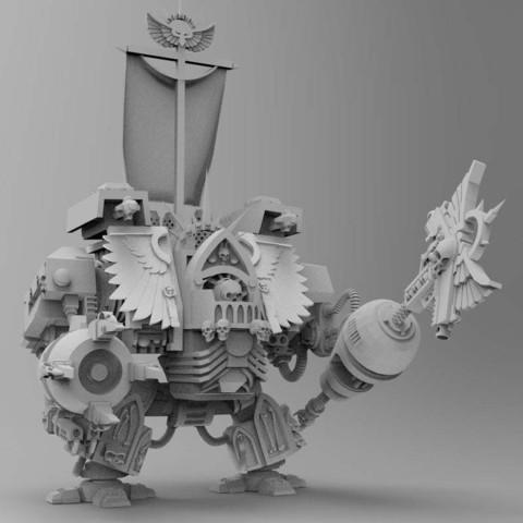Descargar STL gratis Robot Super Viejo y Preachy Boxy Robot con Badass Beating Stick, bentanweihao