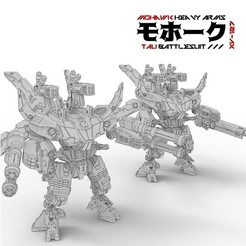Download 3D printing templates Tau XV127 Mohawk Heavy Arms Battlesuit, bentanweihao