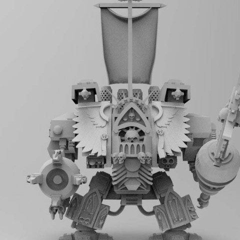 8393b1b97830e73a9cd8c37cce889f80_display_large.jpg Download free STL file Super Old and Preachy Boxy Robot with Badass Beating Stick • 3D printable model, bentanweihao