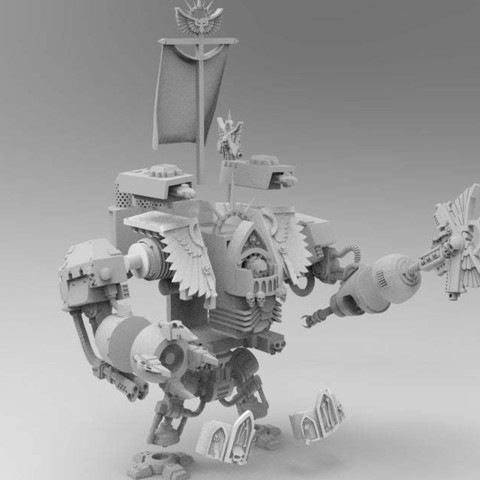 f3ccdd27d2000e3f9255a7e3e2c48800_display_large.jpg Download free STL file Super Old and Preachy Boxy Robot with Badass Beating Stick • 3D printable model, bentanweihao