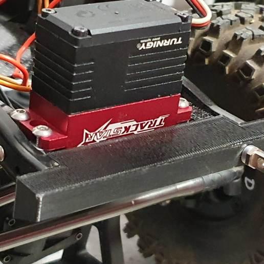 Download 3D printer designs Proline Wagon Bumper with servo mount Scx10, ArmadaRC