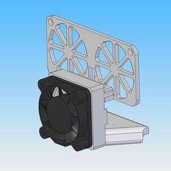CTC_nozzle_fan_support_ver4.jpg Download free STL file CTC Bezer Replicator Dual nozzle fan support ver4 • 3D printer design, nik101968