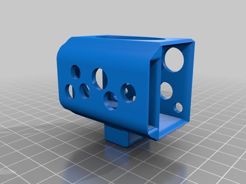 d598969a15e43e395f5248664f16d427.png Download free STL file LiPo 3S holder for FPV goggles • 3D printer template, nik101968