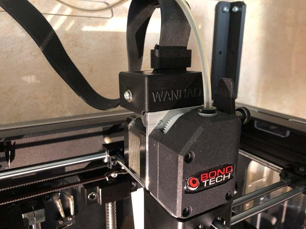 IMG_2207.JPG Download free STL file Wanhao D6 / Duplicator 6 / Monoprice Ultimate Maker Ribbon Cable Holder for BondTech • 3D print object, nik101968
