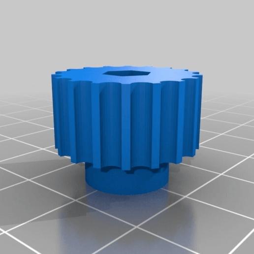 Télécharger fichier STL gratuit Molette M3 pour niveleur de lit • Objet pour impression 3D, nik101968