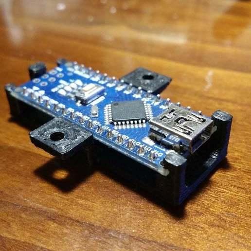2016-03-15_21.37.02.jpg Download STL file Arduino nano support • 3D printer template, nik101968