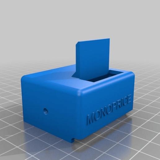 d056fe8b88c1ce73e2a7b8ed0aee7721.png Download free STL file Wanhao D6 / Duplicator 6 / Monoprice Ultimate Maker Ribbon Cable Holder for BondTech • 3D print object, nik101968