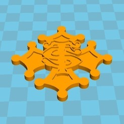 Download 3D printing files Occitan cross stage toulousain, alary_alexandre