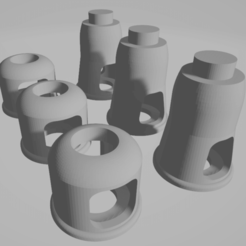 Download free STL file Imperial Guard Basilisk StugIII Styled Muzzle x3 • 3D printable template, FilmBoy84