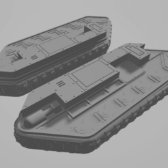 Download free 3D printing models Imperial Guard Chimera APC Tracks (W/O Guides) Proxy, FilmBoy84