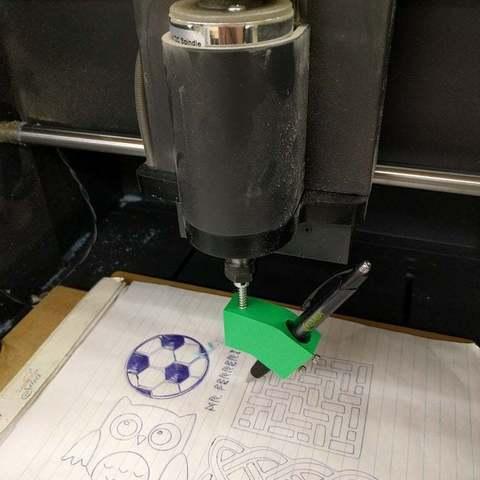 Download free 3D printer templates CNC Pen Holder, Urulysman