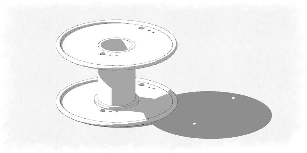 reel_display_large.jpg Download free STL file Filament Reel/Spool for  Filament from Octave.com • 3D printer design, Urulysman