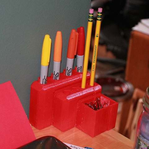 Download free 3D printing designs Pencil and Pen Holder, Urulysman