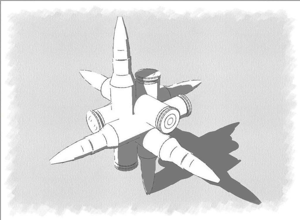 bullet_drawing_display_large.jpg Download free STL file Bullet Puzzle • 3D printable object, Urulysman