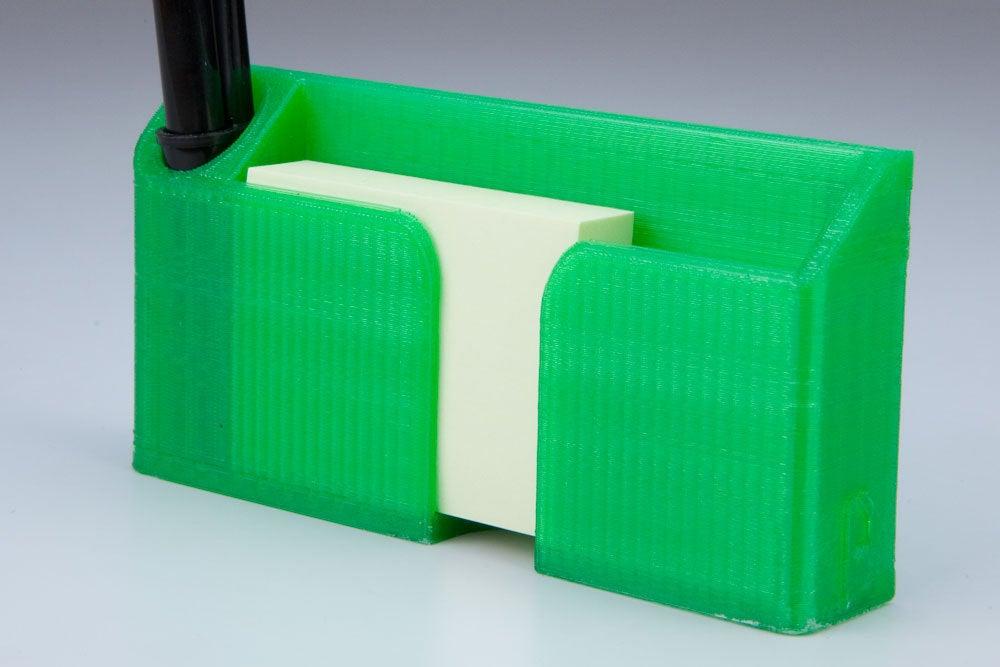 holder2_display_large.jpg Download free STL file Sticky Note and Pen holder for Fridge • 3D print design, Vilereth