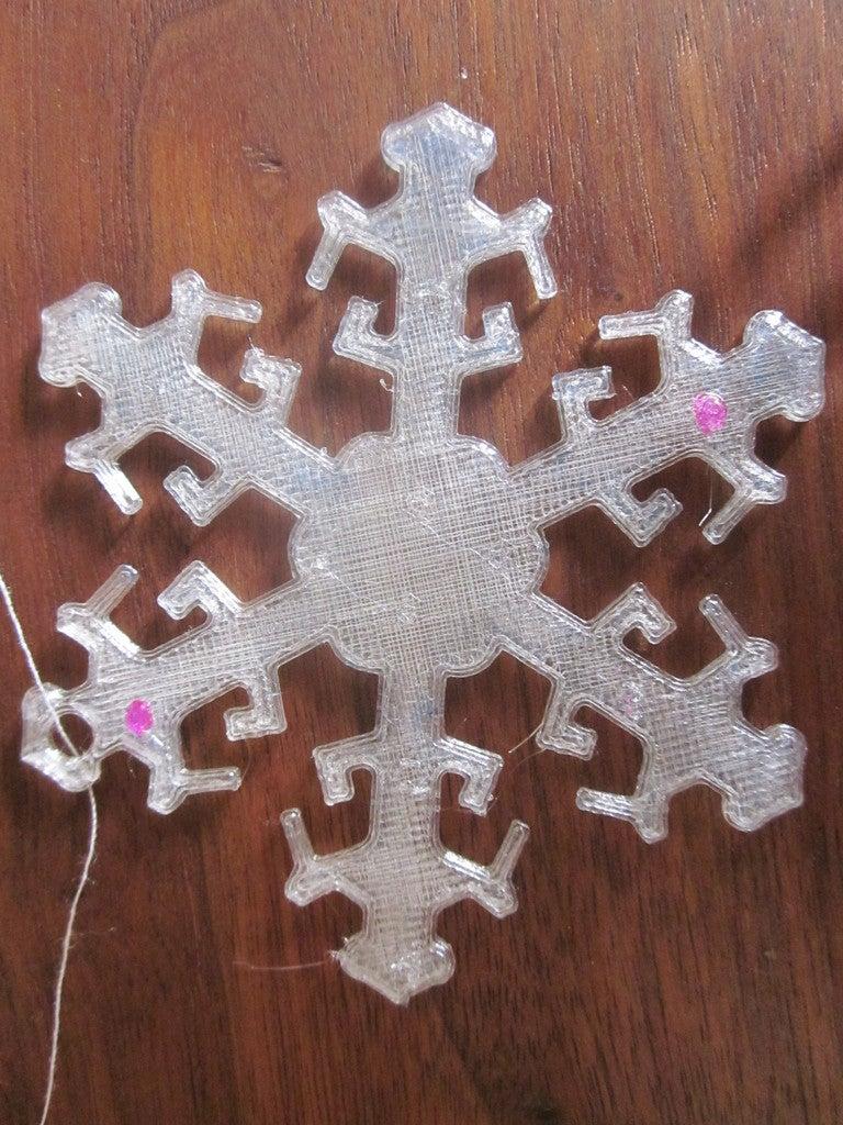 004_display_large.jpg Download free STL file Snowflake Ornament • 3D printer design, Vilereth