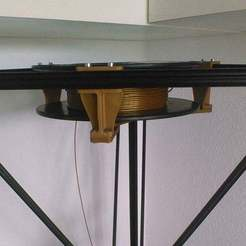 Download free 3D printer files lowered version of Kossel top spool holder, Balkhgar