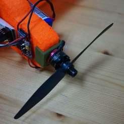 Free 3D printer designs VAS Gremlin Biplane Motor Mount, Balkhgar