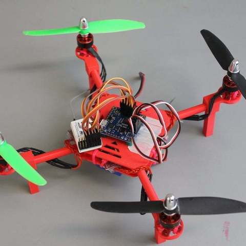 Download free 3D printing templates DIY Mini Quadcopter w/ 3D Printed Motor Mounts, Top & Bottom Plates, Balkhgar