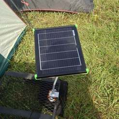 Free 3D print files Adjustable Solar Panel Mount w/ Control Box Mount, Balkhgar