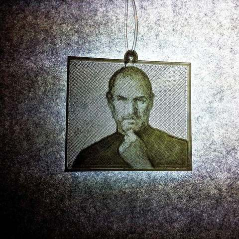 Download free STL Steve Jobs Lithophane ・ Cults