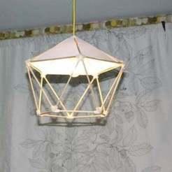 Free 3D printer designs lamp pentagon shape, Balkhgar