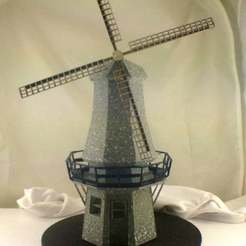 IMG_2302_display_large.jpg Download free STL file Dutch Style Windmill Laser Cut Blade • 3D print model, Balkhgar