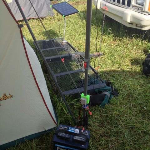 IMG_0424_display_large.jpg Download free STL file Adjustable Solar Panel Mount w/ Control Box Mount • 3D printable object, Balkhgar
