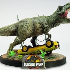 Free 3D model Jurassic Park (Diorama), Malix3D