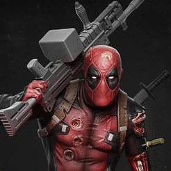 Download 3D printer files Deadpool statue, vinicius_cardoso